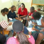 Youth at a leadership meeting